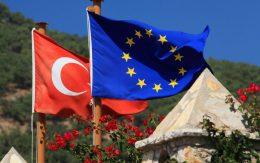 Flags EU and Turkey