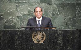President of Egypt Addresses Summit on Sustainable Development
