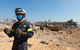 Lebanon: A member of the French search and rescue team after the tragic explosions in Beirut